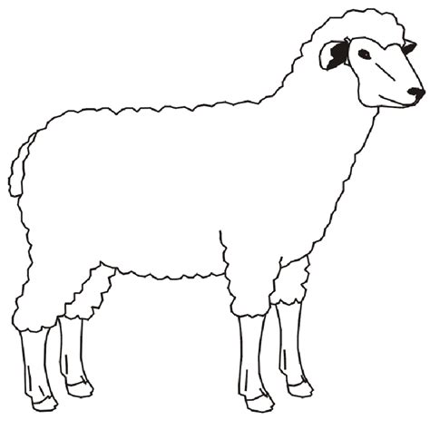 Coloring Coloring Pictures Of Farm Animals For Kids Sheep Colouring Page