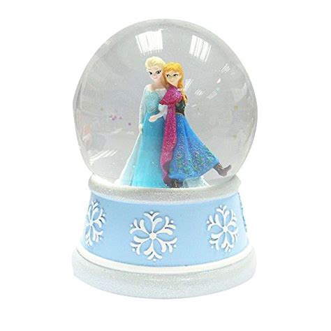 frozen elsa anna musical snow globe plays let it go