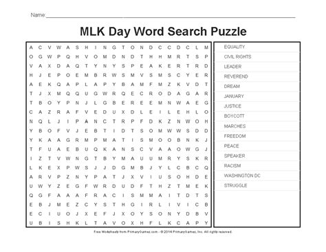 martin luther king word search worksheet 13 best images of martin luther king worksheets martin