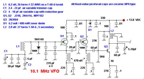 49u 7mhz 7 Mhz 7mhz 7 Mhz 7 Mhz Hosonic 7000mhz 7000mhz circuits electronics 7 mhz popcorn vfo electronic circuit diagram and layout