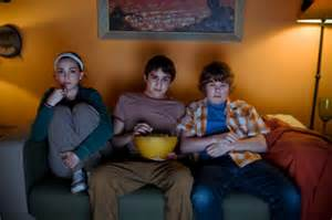 The Sitting Room Seattle - teens watching tv stock photo getty images
