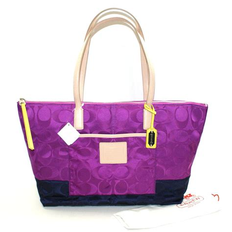 Catania Eastwest Clutch Purses Designer Handbags And Reviews At The Purse Page by Coach Signature East West Zip Tote Violet 24865