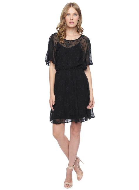 Dress Black Moss ella moss bekah silk dress in black lyst