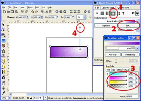 inkscape tutorial gradient publisher database gt tutorials gt how to use inkscape to