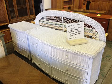 pier one wicker bedroom set sold san jose pier 1 white wicker bedroom set 235 3