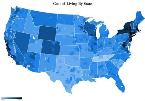 cost of living by state map cost of living by state san gabriel tutor