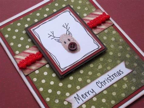 simple christmas cards  buttons