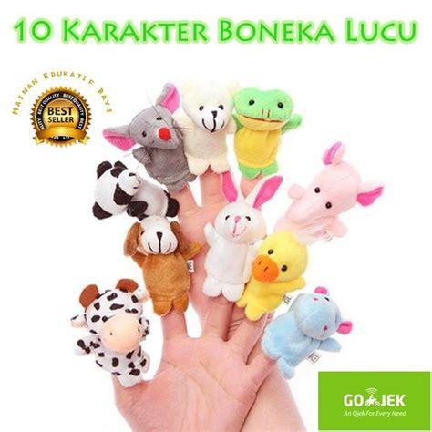 Animal Finger Puppets Boneka Jari Binatang Hewan Mainan Anak jual boneka jari binatang animal finger puppets bagus di