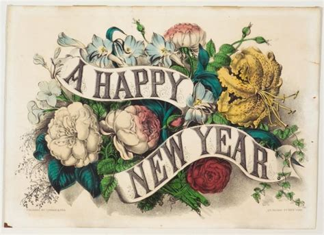 new year flower painting a happy new year currier ives springfield museums