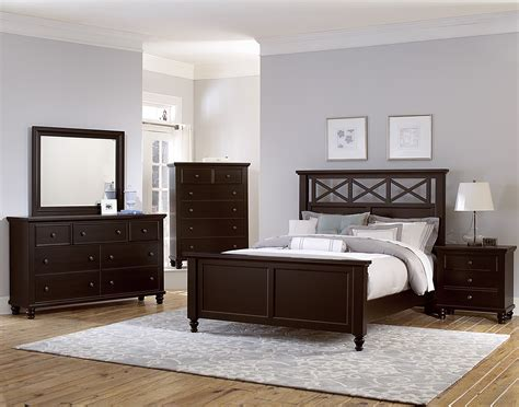 vaughan bassett bedroom vaughan bassett ellington merlot 620 bedroom group