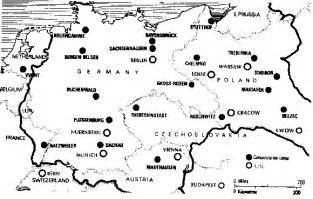 Concentration Camps In Germany Map by Gallery For Gt Concentration Camps Map