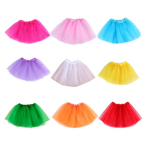 Diskon Rok Tutu 3 Warna baby tutu skirt children skirt translucent 3 layer net yarn beautiful colors