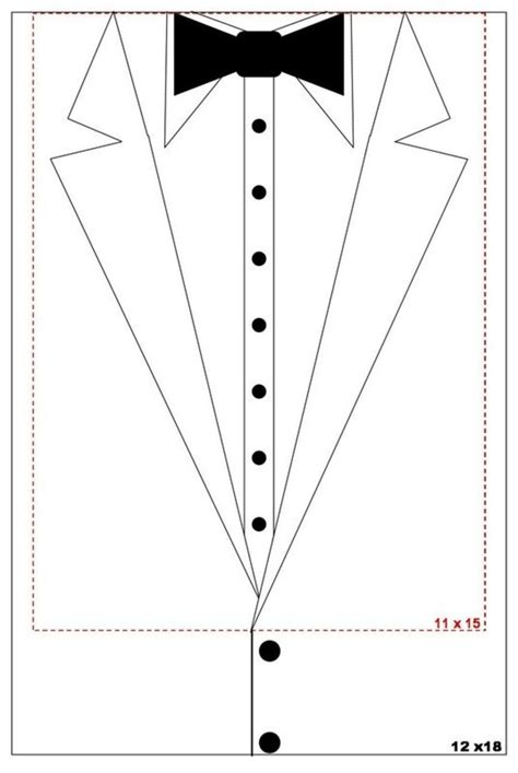 tuxedo card template oh my wedding