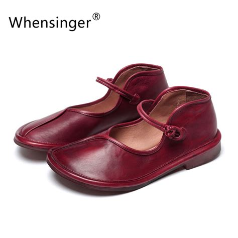 Readty Wedges Size 35 40 whensinger 2017 top grade shoes genuine leather summer sandals size 35 40 lace up design 2