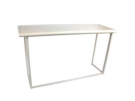 White Bar Table Collapsible White Bar Table Your Event Delivered