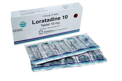 Obat Loratadine loratadine 10 mg indikasi dosis dan efek sing