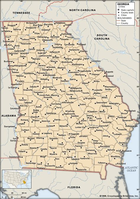 map of georgia cities cities in georgia usa georgia cities kids encyclopedia children s homework