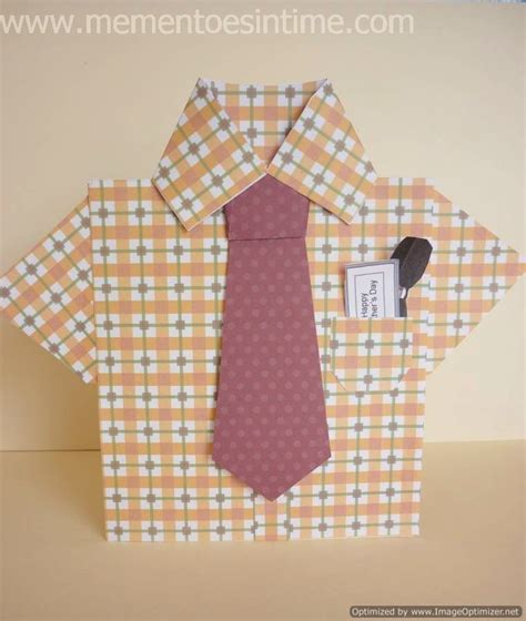 how to make shirt and tie card card ideas mementoes in time