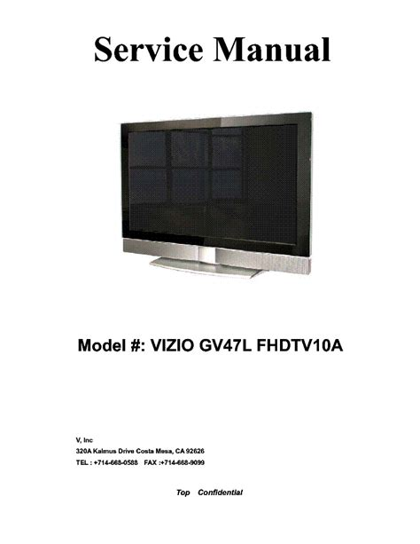 visio tv manual vizio tv repair manual images