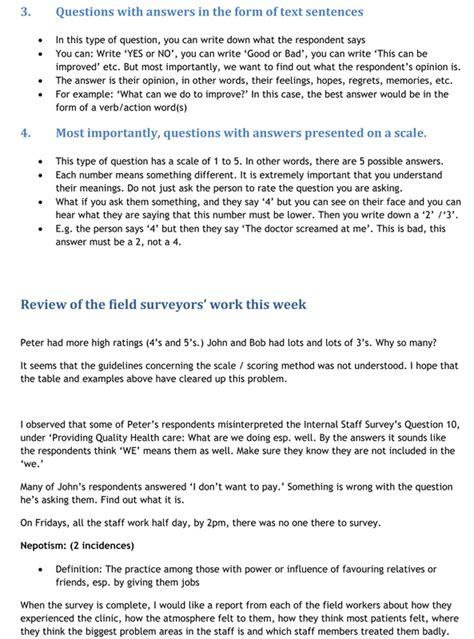 business process questionnaire template bsc free survey exles business survey consultants