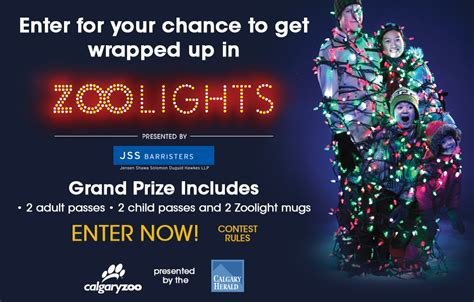 Get Wrapped Up In Zoolights Contest Calgary Zoo Lights Admission