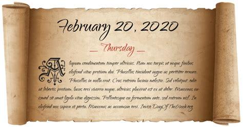 day   week  february