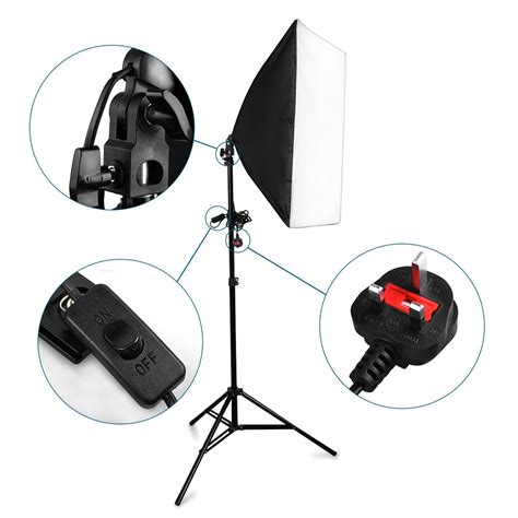 best continuous lighting kit photography studio 2x125w soft box continuous lighting