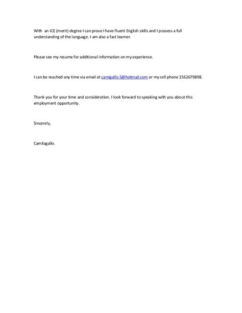 fast cover letter resume template