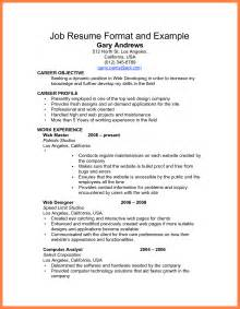 Resume Job Vacancy Sample by Top Inspiring Resume Format Samples Example Job Resume For