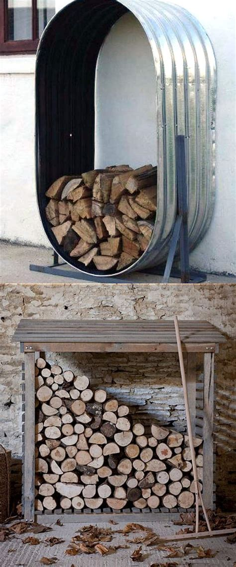 cheap diy firewood rack 15 creative firewood rack and storage ideas page 2 of 2