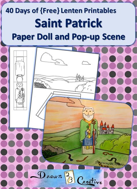 printable paper pop up 40 days of free lenten printables saint patrick paper
