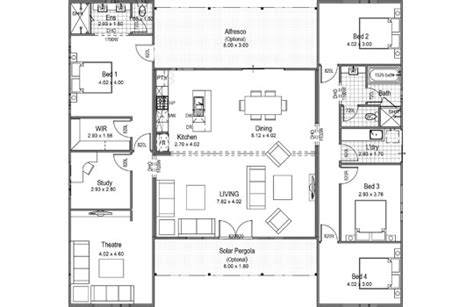 house plans with breezeway the breezeway 4 bed homes aussie modular solutions