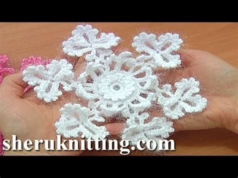 crochet snowflake pattern youtube snowflake crochet christmas ornaments tutorial 2 part 1 of