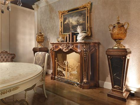 camino luigi xv caminetto in stile luigi xv in legno intagliato idfdesign
