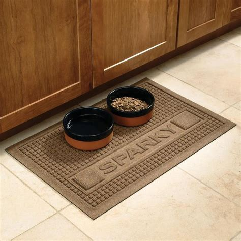 personalized pet food mats at brookstone buy now - Rubber Food Mat