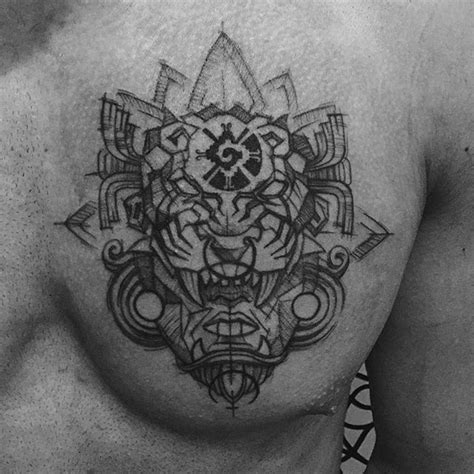 geometric jaguar tattoo aztec jaguar warrior for alvaro aztec aztecmask jaguar