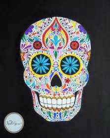 colorful skull the gallery for gt colorful sugar skull drawings