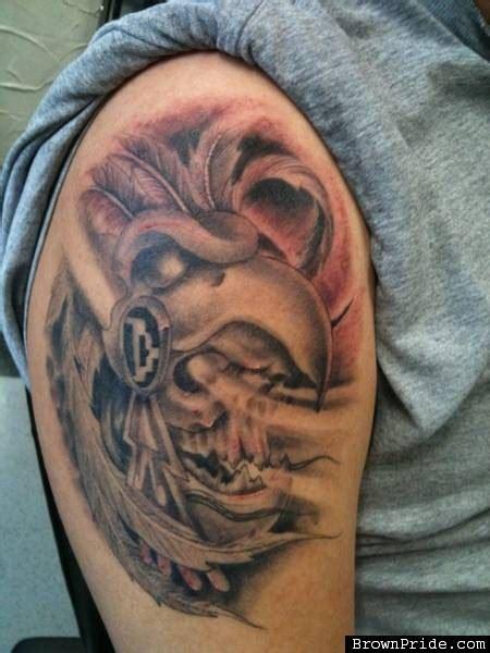aztec eagle tattoo grey ink aztec eagle on half sleeve