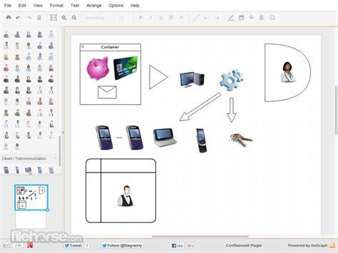 draw application draw io diagrama de aplicaciones de dibujo para el flujo