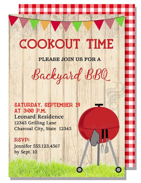 cookout invitation template bbq invitations invitations