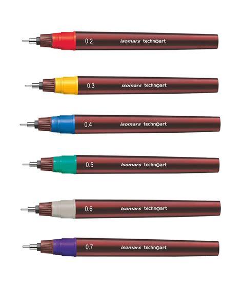 Drawing W Pen by Isomars Technical Drawing Pen Techno Set Of 8 Pcs