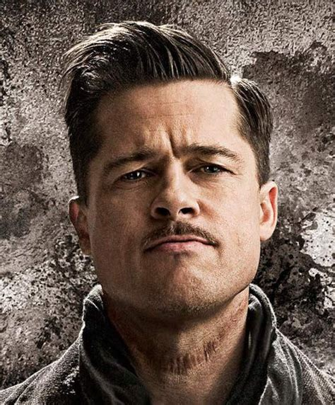 brad pitt prohibition haircut brad pitt side parted hairstyle in inglourious basterds