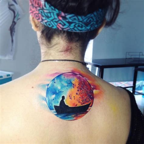 watercolor moon tattoo 30 gorgeous watercolor tattoos by adrian bascur tattoomagz