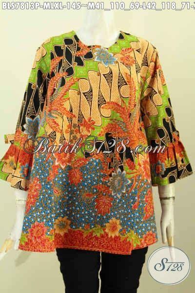 Tunik Cantik Dress Kantor Tunik Batik Kain Batik model baju atasan batik wanita modern 2018 toko batik