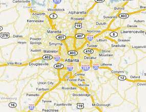 Atlanta Area Map by Map Of Atlanta Ga And Surrounding Cities Car Tuning