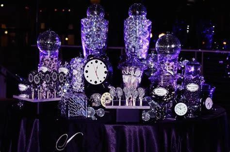 new year buffet decoration purple and silver wedding buffet tables this