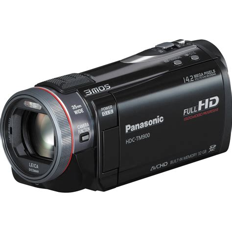 and camcorder panasonic hdc tm900 high definition camcorder hdc tm900k b h