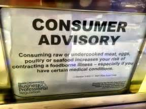 Consuming Or Undercooked Food Notice by Nothing To Consume Advisory