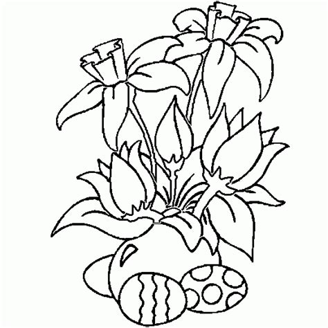 free coloring pages of easter flowers coloring easter eggs in beautiful flowers easter