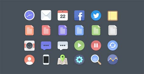 iconic layout jevents download 24 flat icons psd